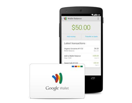 Google Wallet ile ilişkilendirilen ATM kartı ile alışveriş de yapılabiliyor.