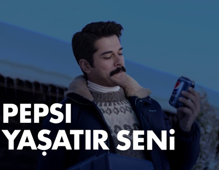 Pepsi yeni yıl mesajını Burak Özçivit'le iletiyor: Seviyorsan aç konuş bence!