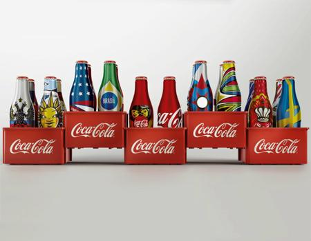 Coca-Cola'dan 2014 Dünya Kupası'na özel mini interaktif şişe tasarımları