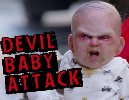 Amerikan korku filmi için yaratıcı viral çalışması.
