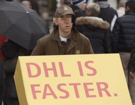 DHL muzır kampanyasıyla rakiplerine kendi reklamını yaptırıyor.