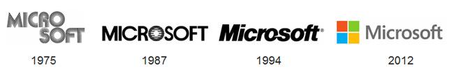 Microsoft'un logo evrimi