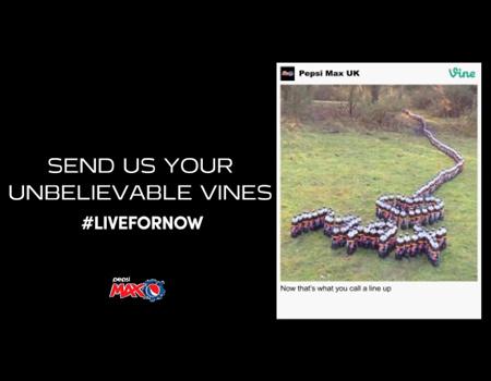 Pepsi tüketicilerin Vine videolarını reklam panolarına taşıyor.