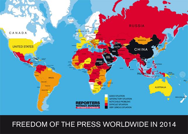 Türkiye, basın özgürlüğü sıralamasındaki 154'üncü yerini bu yıl da korudu