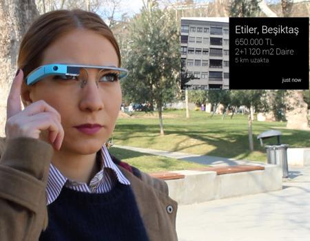 Uygulama size en uygun evi akıllı gözlüğünüzle buluyor.