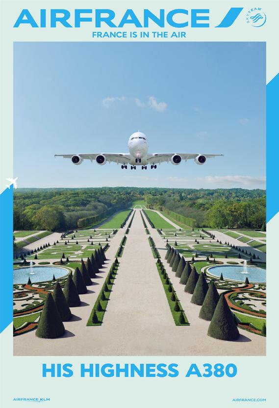 Air France'ın yeni ilanları moda dergisi kapaklarını aratmıyor.