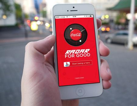 Coca-Cola'nın Romanya'da yayınladığı uygulama yardımlaşmayı teşvik ediyor.