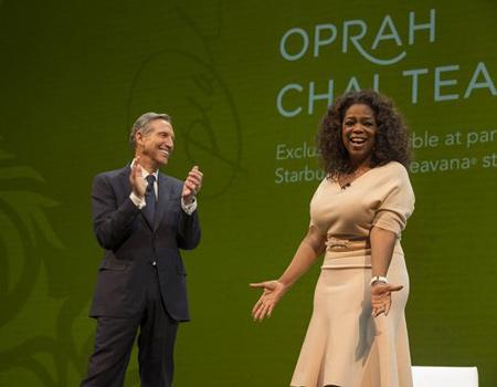Starbucks, Oprah'ın ismini taşıyacak çayın duyurusunu yıllık toplantısında duyurdu.