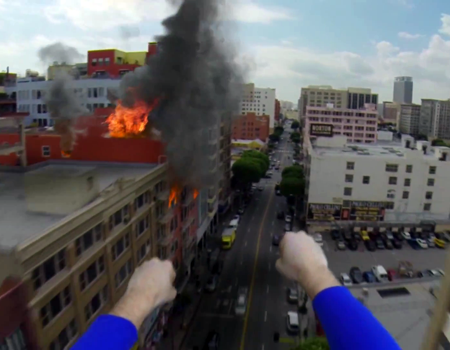 GoPro videoların sonuncusu 'Superman with a GoPro' kısa sürede viral oldu.