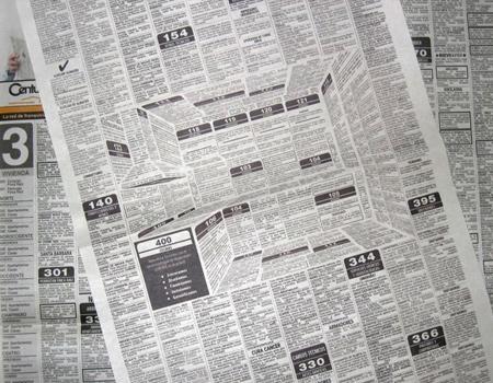 Kolombiyalı mobilya markasından sıra dışı basın ilanı.
