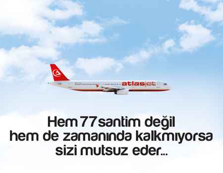 Atlasjet'ten '77 santim'i dakiklikle birleştiren kampanya