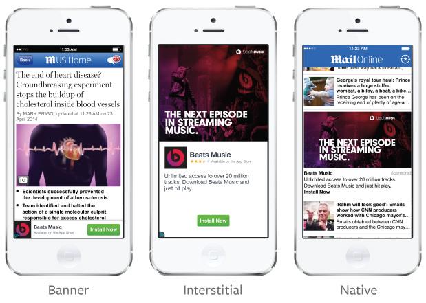 Facebook mobil reklam ağını tanıttı
