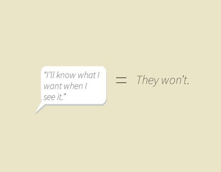 Müşterinin isteklerini tasarım diline çeviren kılavuz