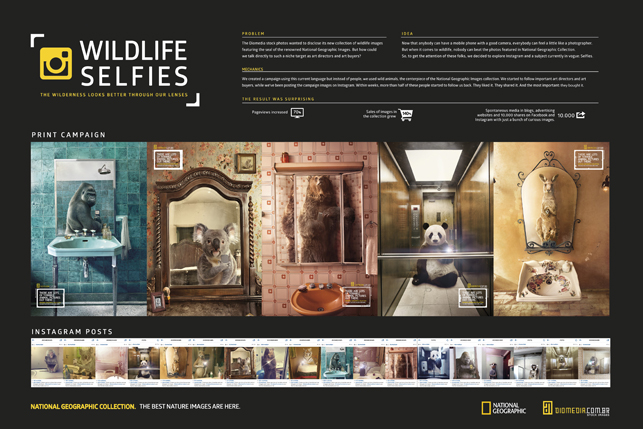 Brezilyalı stok görsel bankasından yaratıcı ilan serisi.