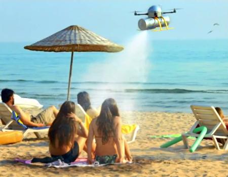 Sprite'tan Türkiye sahillerini insansız hava aracı ile serinleten kampanya
