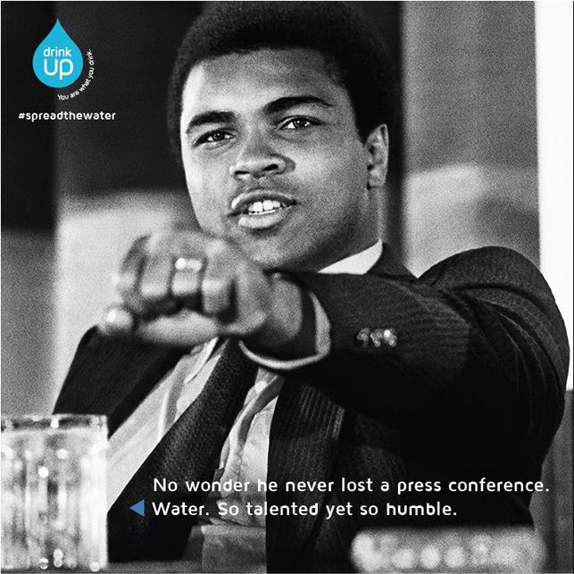 Su için, daha atletik olun: Muhammed Ali