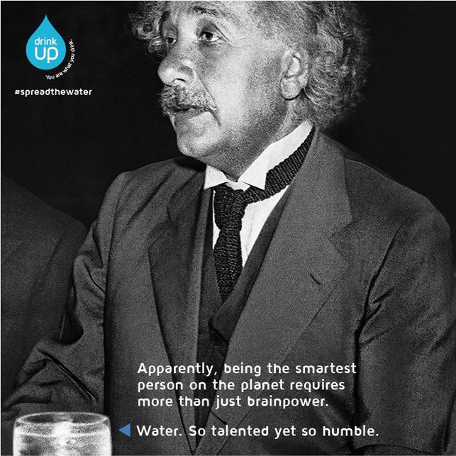 Su için, zihniniz açılsın: Albert Einstein