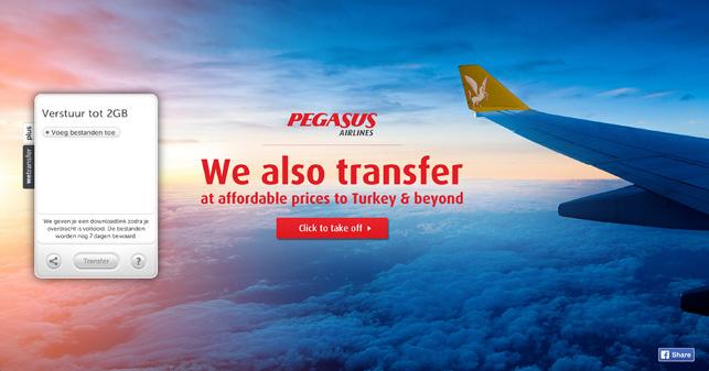 """Pegasus'tan yaratıcı mecra kullanımı: """"We also transfer"""""""
