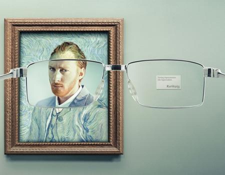 """Y&R Paris'ten yaratıcı """"gözlük"""" kampanyası."""