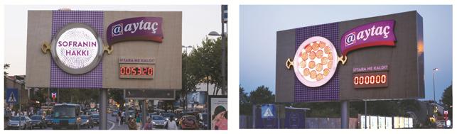 Aytaç'tan iftarı karşılayan billboard