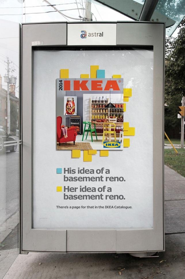 IKEA'dan Apple'a öykünen açıkhava ilanları