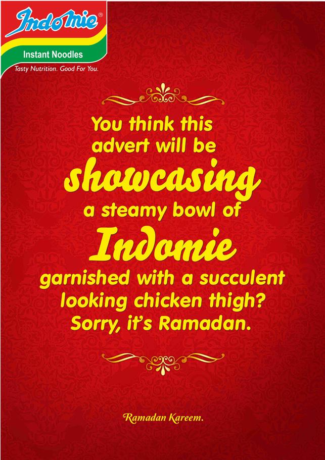 Makarna markasından 'oruç tutan' Ramazan ilanları