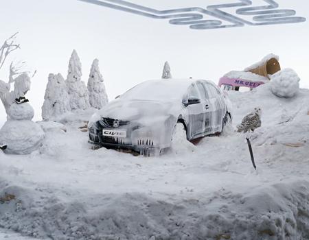 Honda'dan iklimlere meydan okuyan reklam