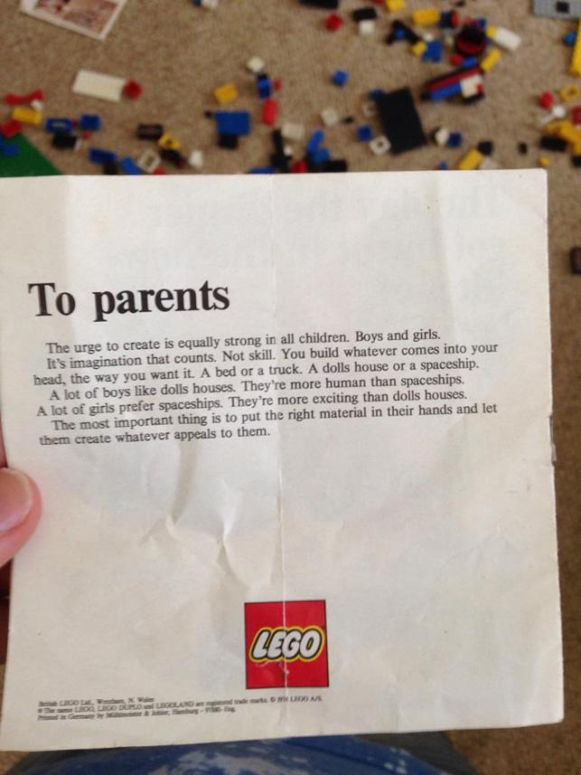 Lego cinsiyet eşitliğini tanıyalı yıllar oluyor