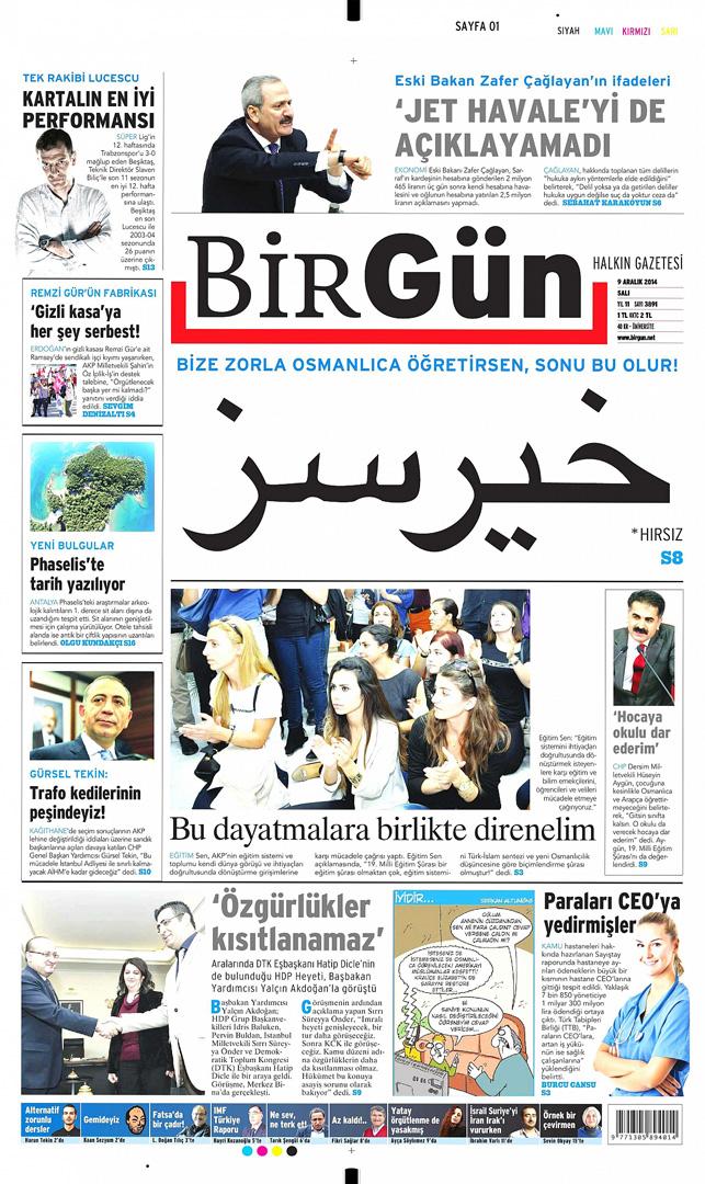 BirGün'den Osmanlıca manşet