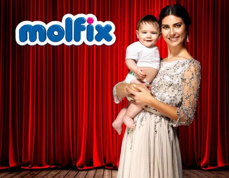 Tuba Büyüküstün Molfix'in uluslararası reklam yüzü oldu