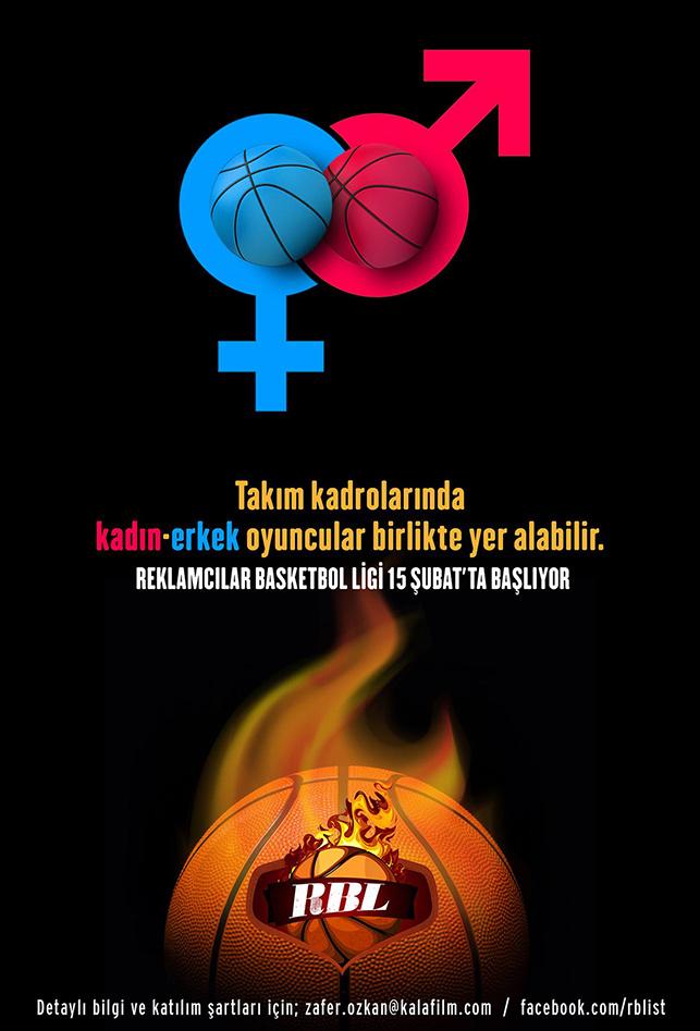 """Reklamcılardan """"kızlı-erkekli"""" basketbol ligi"""