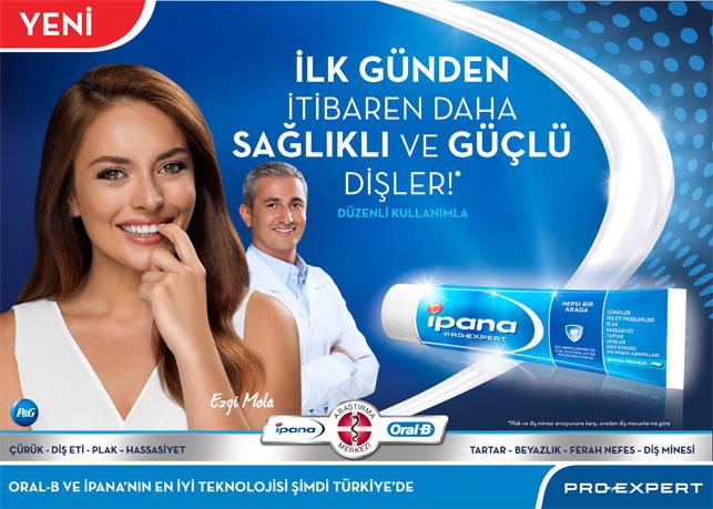 Ezgi Mola İpana'nın reklam yüzü oldu