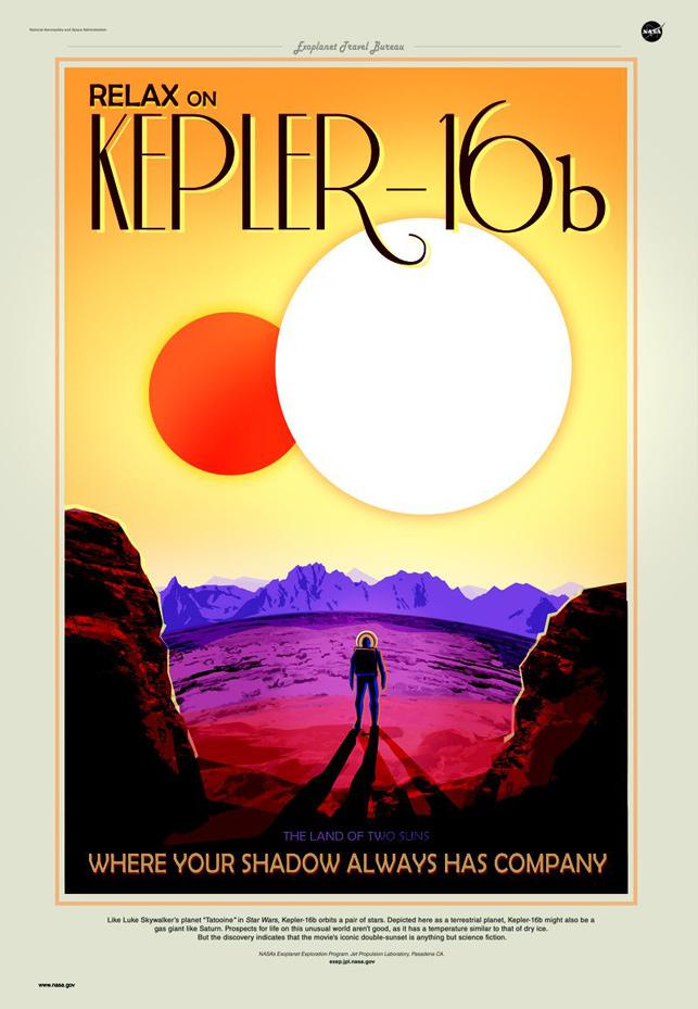 NASA'dan gezegenler arası tur posterleri