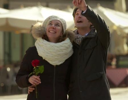İnsansız hava aracı ile Sevgililer Günü sürprizi