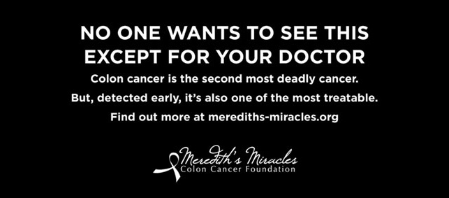 Kolon kanserine karşı ironik ilan