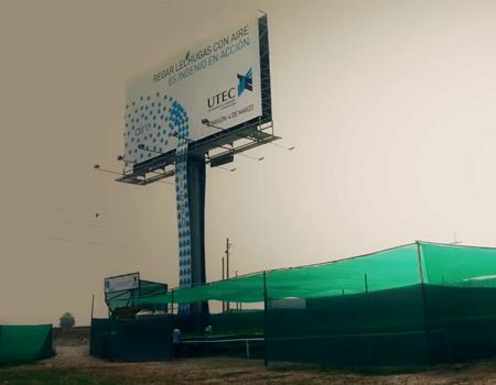 Marul yetiştiren billboard