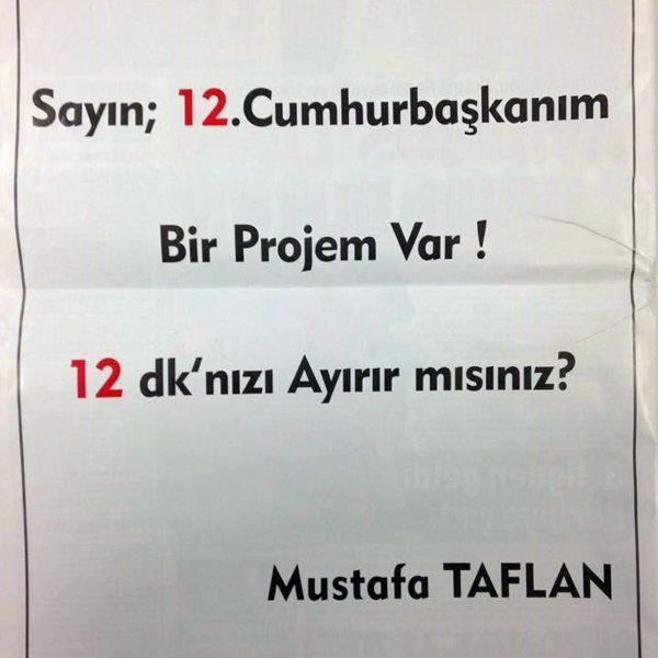 İş adamından Erdoğan'a hitaben tam sayfa ilan
