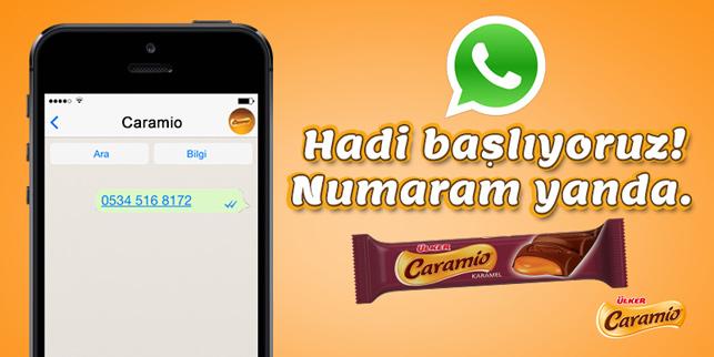 Ülker'den bir WhatsApp deneyi