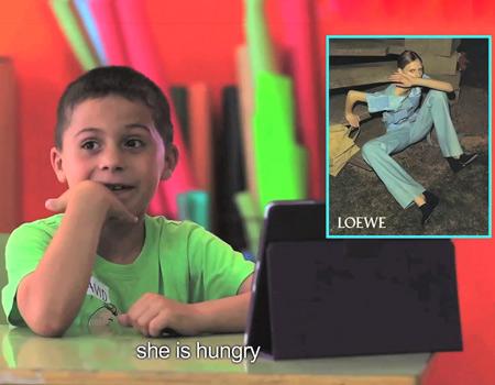 Çocukların gözünden moda çekimleri