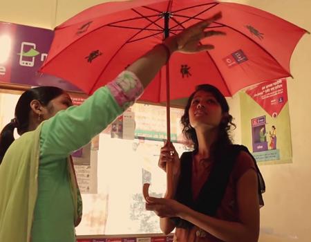 Vodafone'dan hayat kurtaran şemsiye