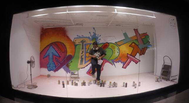 7 ünlü sokak sanatçısı Boyner ve YKM vitrinlerini grafitileri ile renklendiriyor.