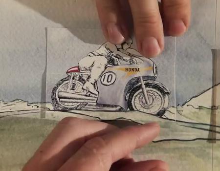 Honda, tarihini çizimlerle anlatıyor