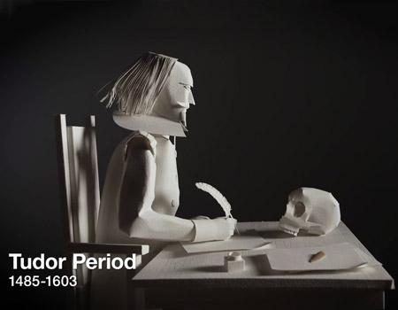 Londra'nın tarihi kağıtla canlanıyor