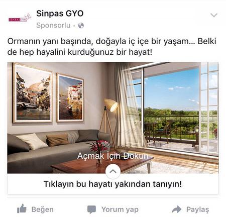 Facebook Canvas ile şimdi reklamlar