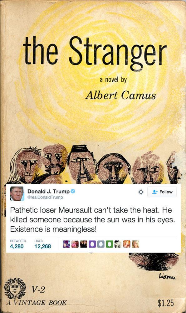 Donald Trump'ın edebiyat trolü olarak portresi