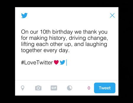 Twitter 10 yaşında