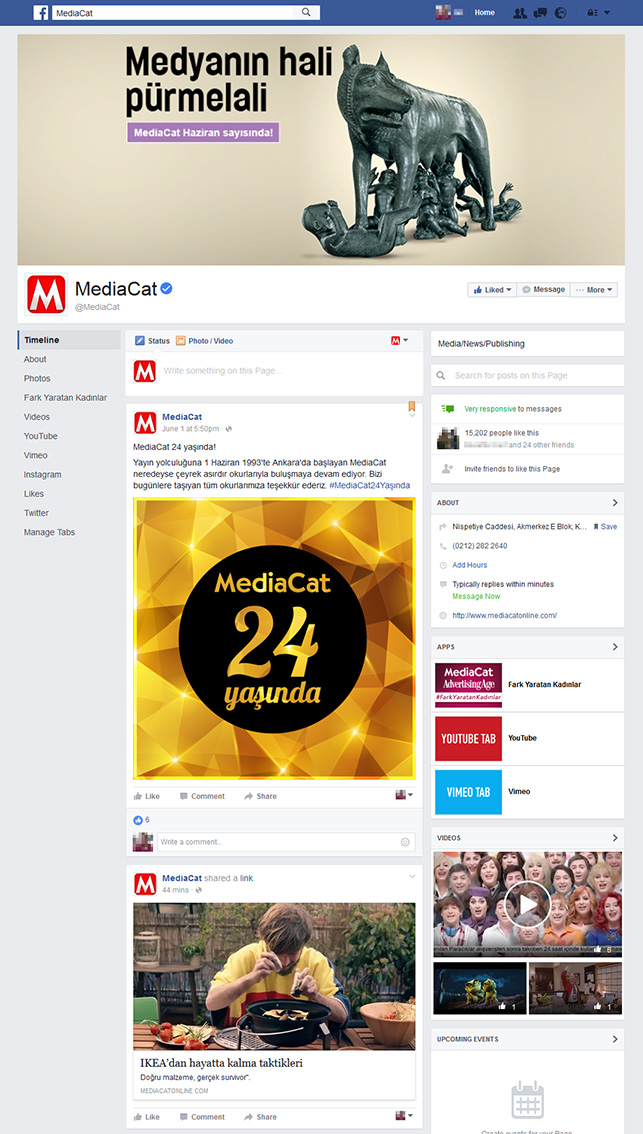 Facebook'un yeni sayfa tasarımı