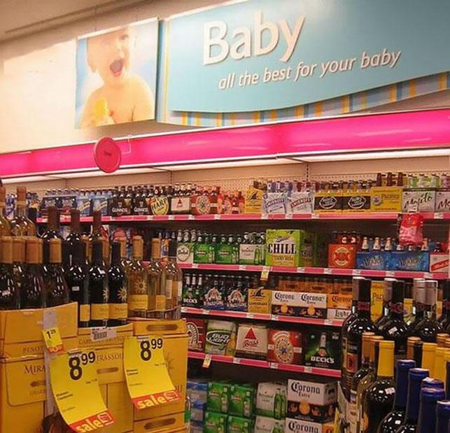 Süpermarket raflarından pazarlama manzaraları