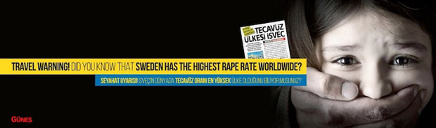 """""""İsveç'in dünyada tecavüz oranı en yüksek ülke olduğunu biliyor muydunuz?"""""""
