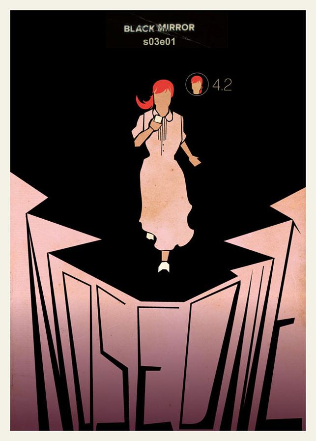 Minimalist Black Mirror afişleri